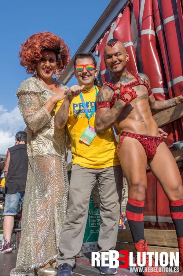 Karla Show, Carlos Guino y Pablo Bravo Pride Barcelona 2017